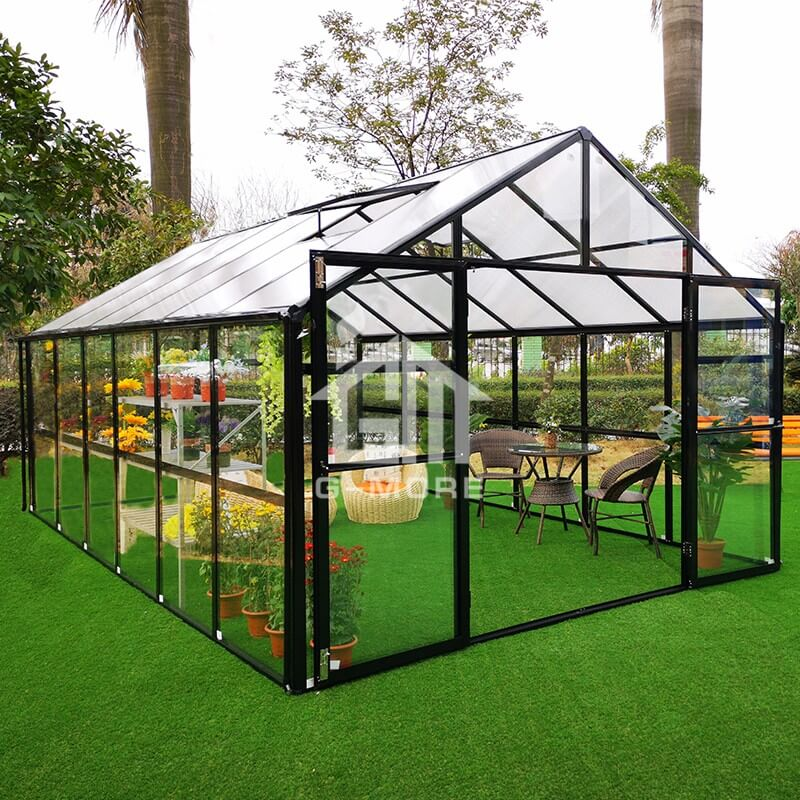 16'x11.3' G-more Elite Luxury Hobby Glass Greenhouse-GE1406