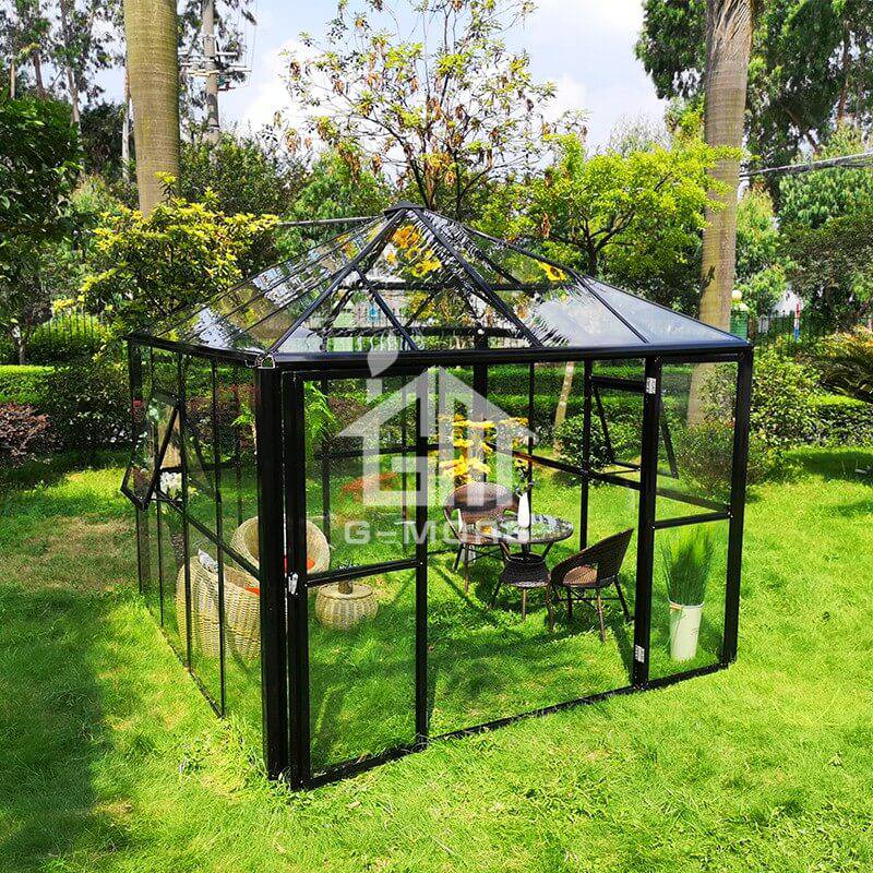 10'x10' G-MORE Easy Assemble Aluminum Frame Polycarbonate Greenhouse-GE2404