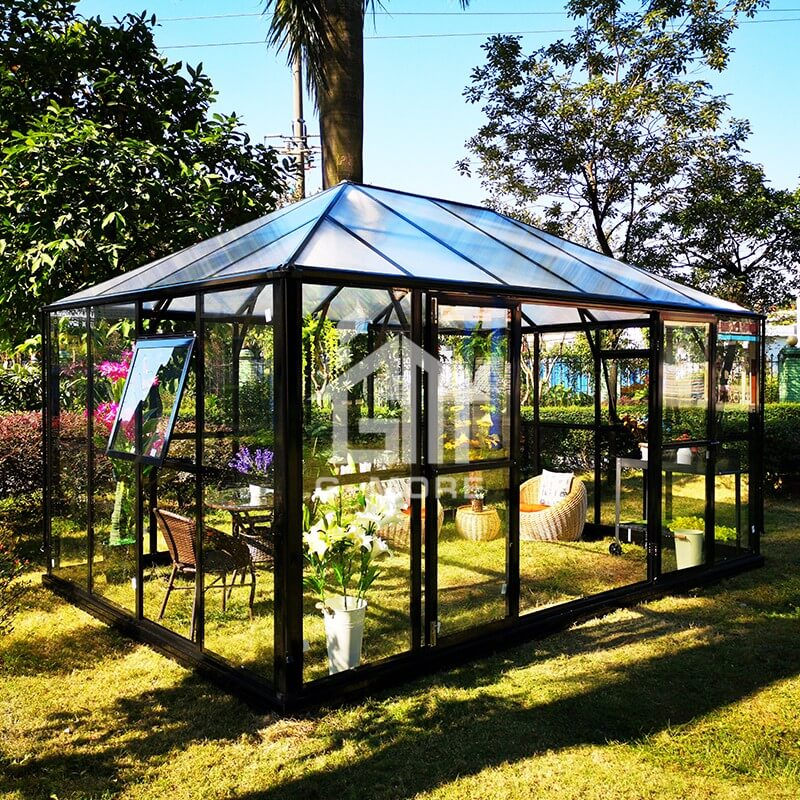 G-MORE Royal Park Easy DIY Glass Conservatory-GE2604