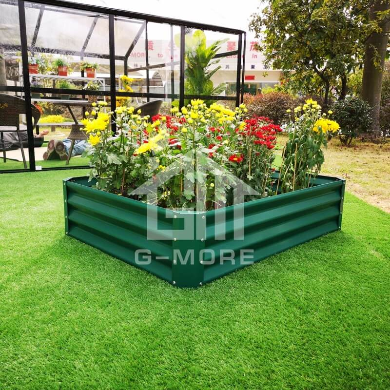 G MORE 60X60 CM Wholesale Green Rectangular Vegetable Gardening Metal  Raised Garden Beds