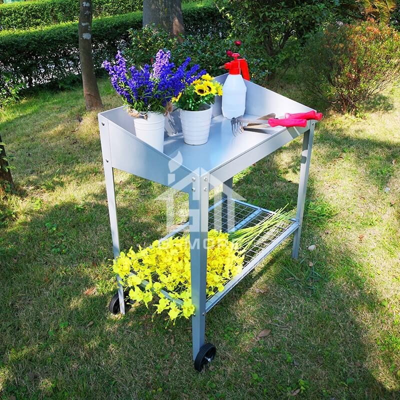 3'x1.5' G-MORE Two-Wheels, Stainless Bolt & nuts Versatile Steel Potting Bench