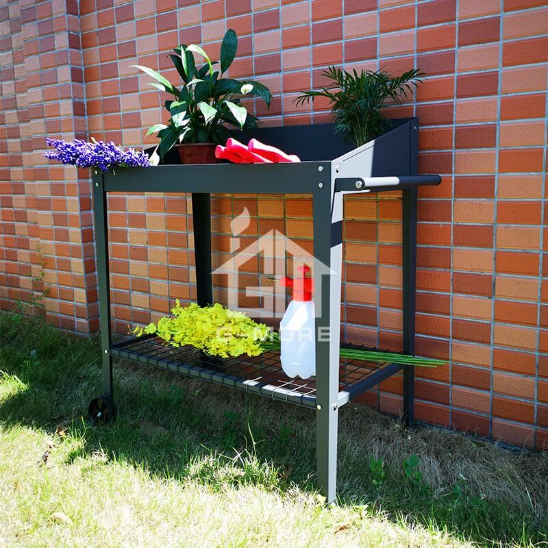 G-MORE Two-Wheels, Stainless Bolt & nuts Versatile Steel Potting Bench