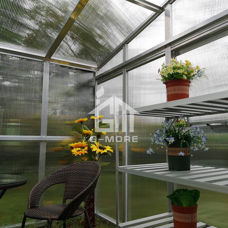 3 X 4M Pent Roof Greenhouse G-MORE Heavy duty aluminum garden sunroom kits-GM32906