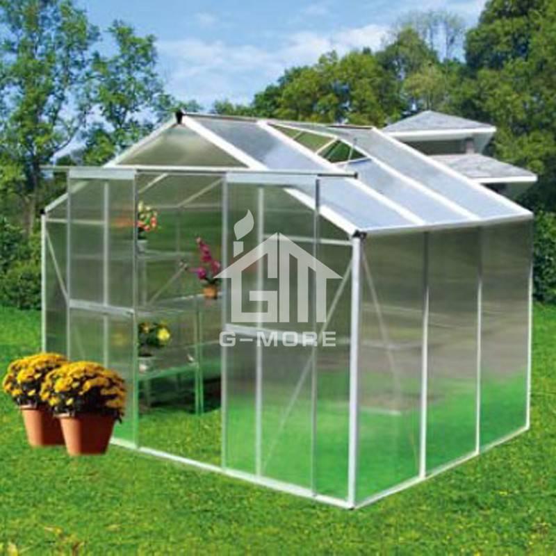 147x285cm Aluminum Greenhouse Manufacturer Traditional Series Aluminum/Polycarbonate Hobby Greenhouse