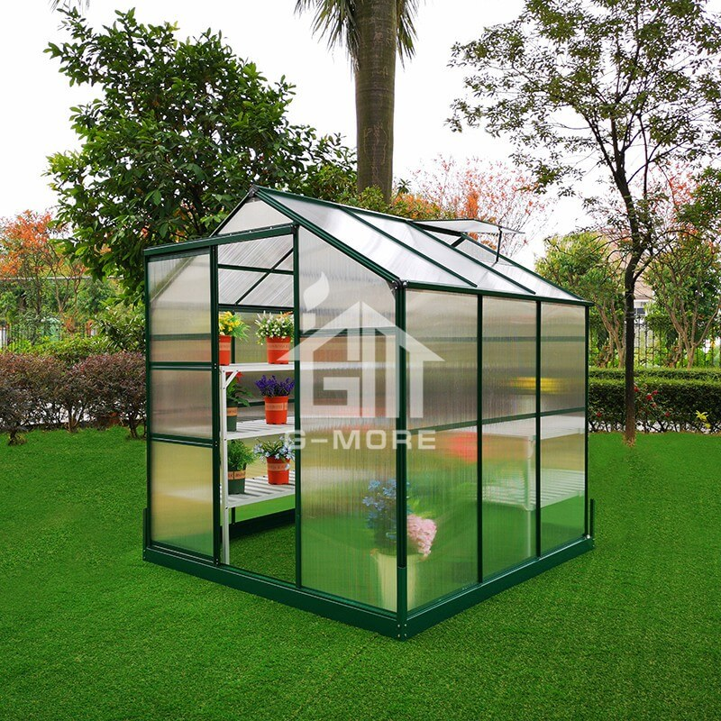 6'x6' G-more Lite Series Low Cost Easy DIY 4MM PC Green House-GL023