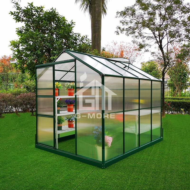 6'x8' G-more Lite Series Low Cost Easy Assembly Green Houses for sale-GL024