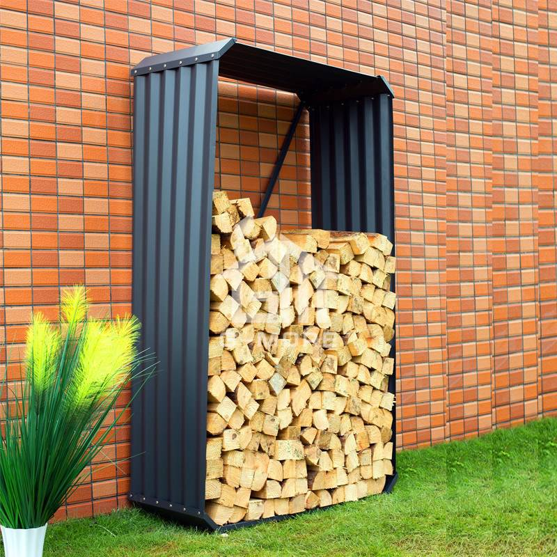 G-MORE Wholesale Rectangle Grey Firewood Storage