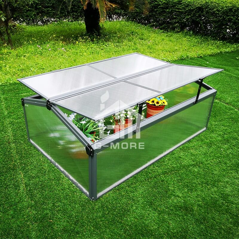 G-MORE Cold Frame, 4MM PC Aluminum Mini Greenhouse - GM42013