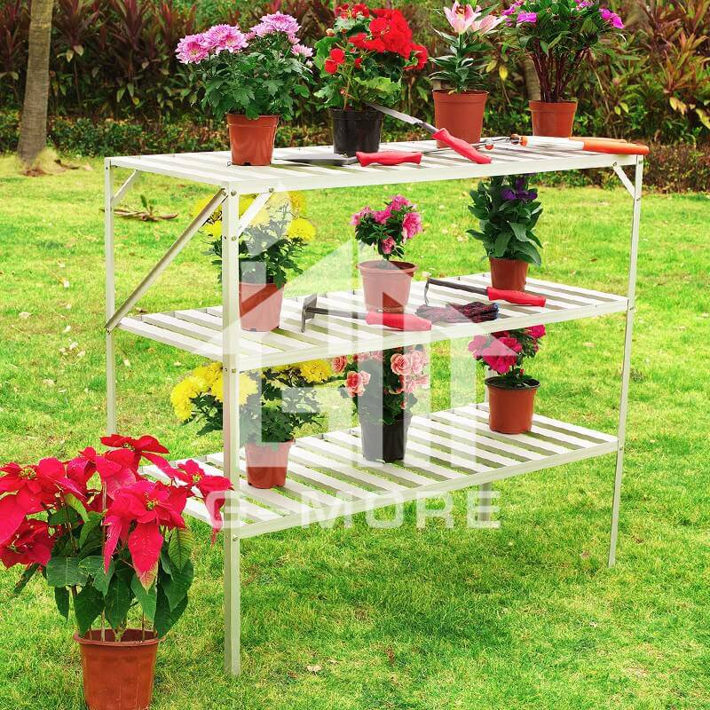 G-MORE Aluminum Staging, 3 Tier Shelf Rack - GM51013