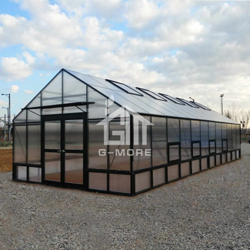 16'x40' 10mm Thick Greenhouse Polycarbonate + 5m Width Greenhouse Frame Garden House