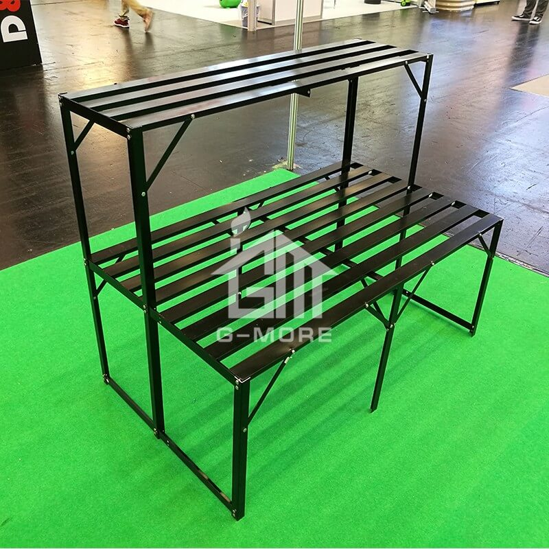 G-MORE Aluminum Staging, 2 Tier Shelf Rack - GM53012