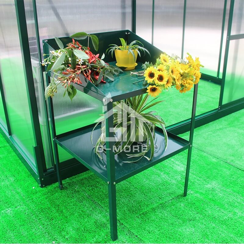G-MORE Aluminum Staging, 2 Tier Shelf Rack - GM51071