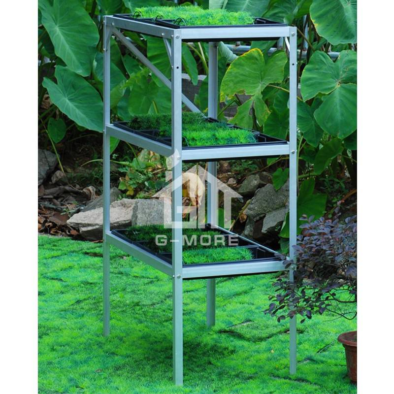 G-MORE Aluminum Staging, 2 Tier Shelf Rack - GM52043-3