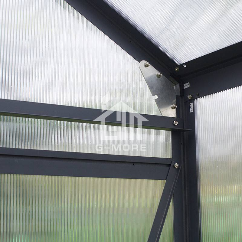 12.4'x12.5' G-more Orangery series Heavy Duty Polycarbonate Greenhouses-GM34606