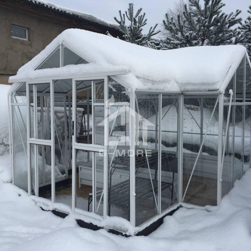 G-more Orangery Series Heavy Duty Glass Greenhouse-GM34606