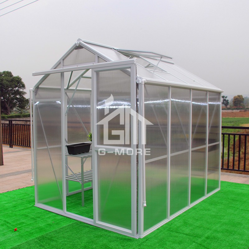 6.3'x8.4' G-more Imperial Series Single Door Luxury Polycarbonate Greenhouse - GM34304