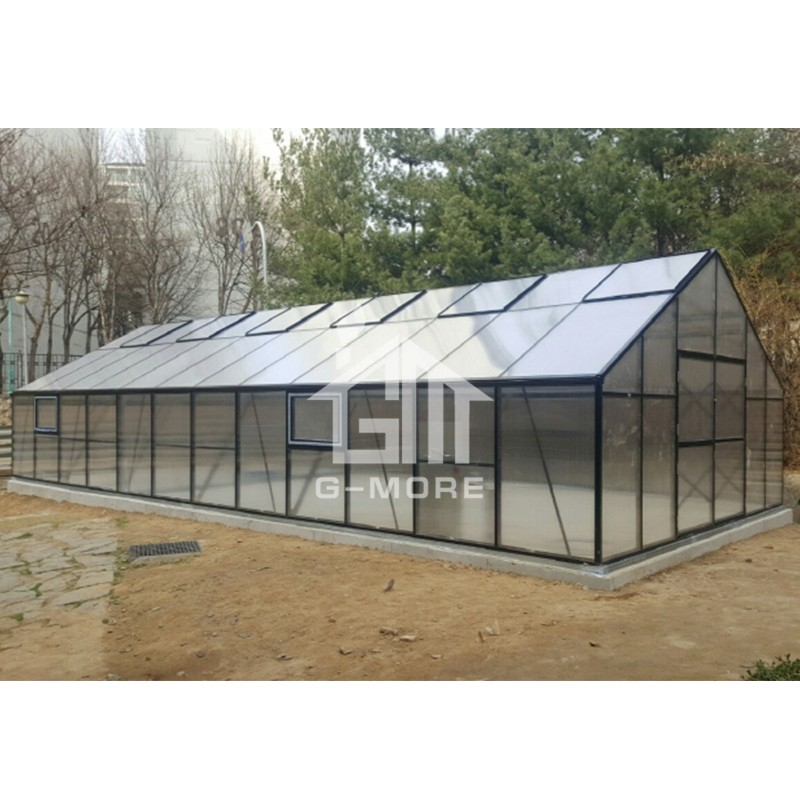 16'x46' G-MORE 5M Width Series, Strong Aluminm Frame 10MM Polycarbonate Panels - 5M X 14M