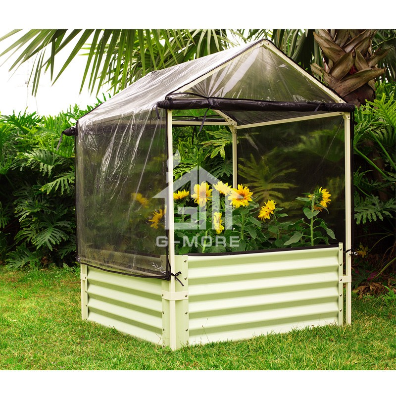 G-MORE 110 x 110 x 150cm Garden Grow Bed With Cover