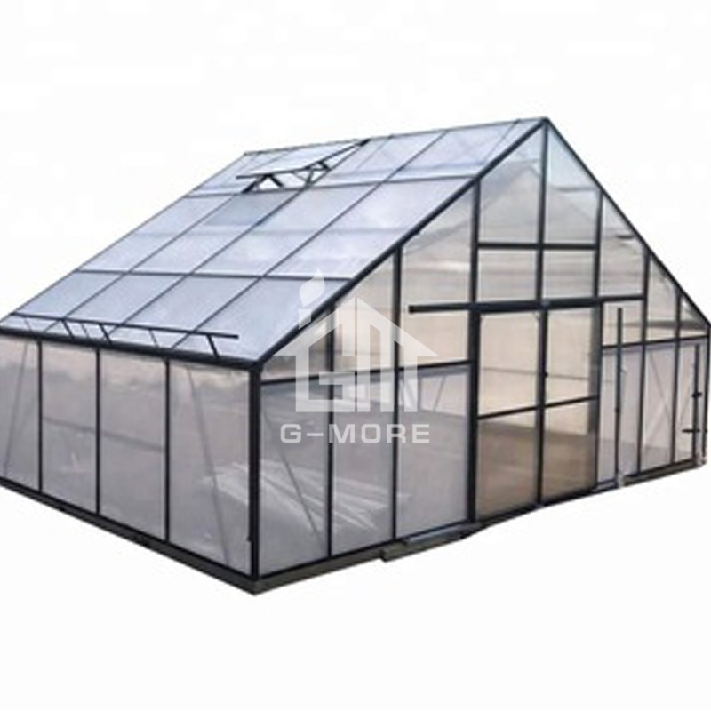 25'x 13' G-more Titam Series 7M Width PC Sheet Cover and Large Size Agricultural Greenhouse - GM32704