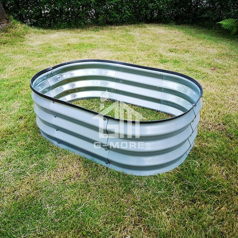 G-MORE 60 x 90CM Fast Assembly Sliver Raised Garden Beds