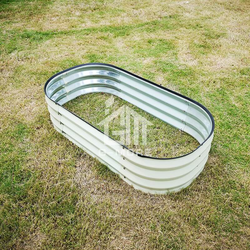 G-MORE 60 x 120CM Fast Assembly Creme Raised Garden Beds