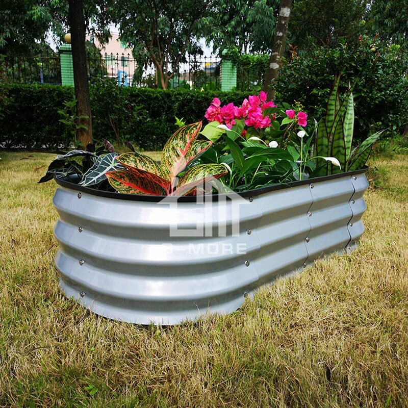 G-MORE 60 x 120CM Fast Assembly Sliver Raised Garden Beds