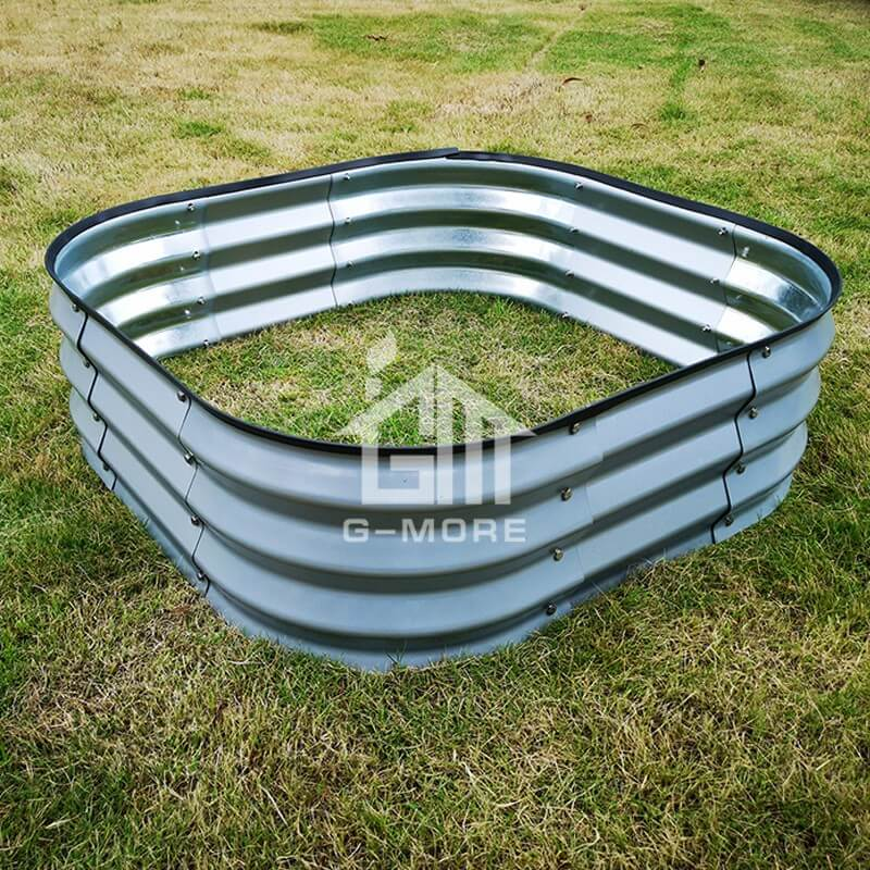 G-MORE 90 x 90CM Fast Assembly Sliver Raised Garden Beds
