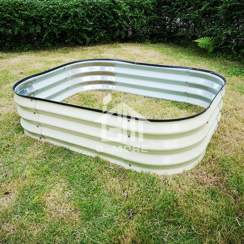 G-MORE 90 x 120CM Fast Assembly Creme Raised Garden Beds