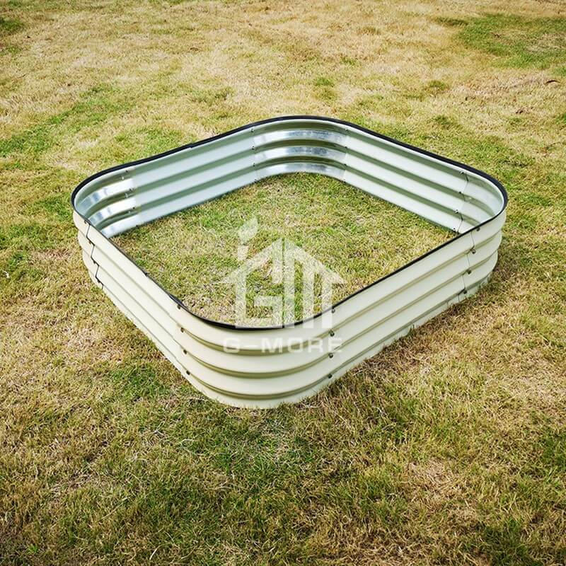 G-MORE 120 x 120CM Fast Assembly Creme Raised Garden Beds