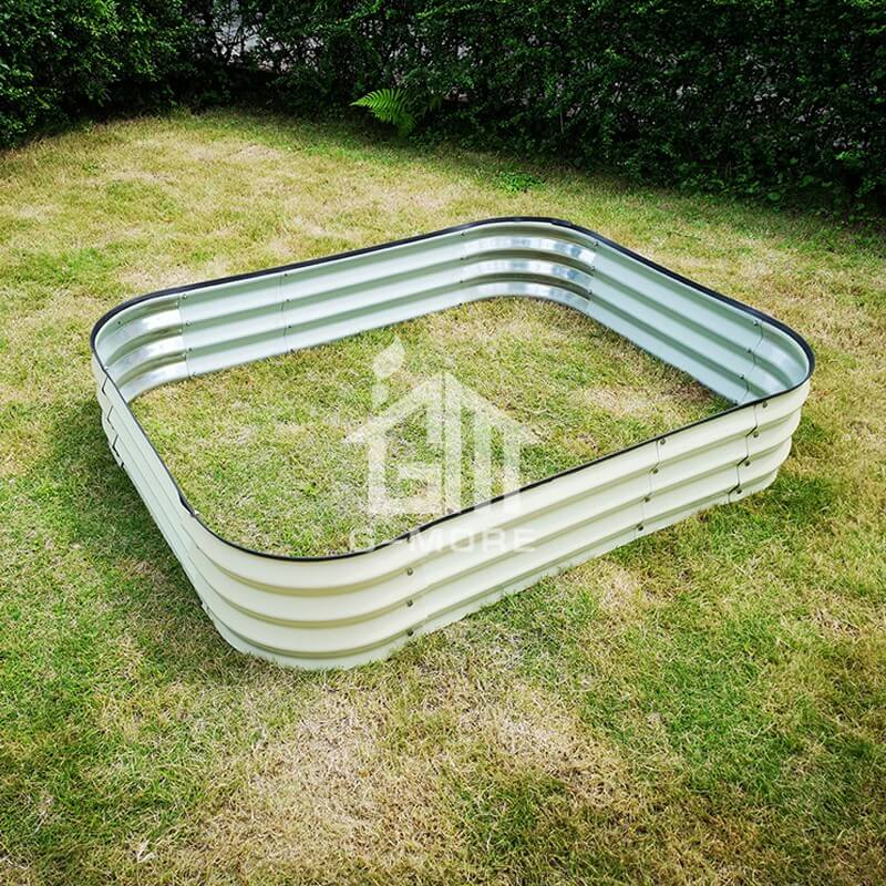 G-MORE 120 x 150CM Fast Assembly Creme Raised Garden Beds