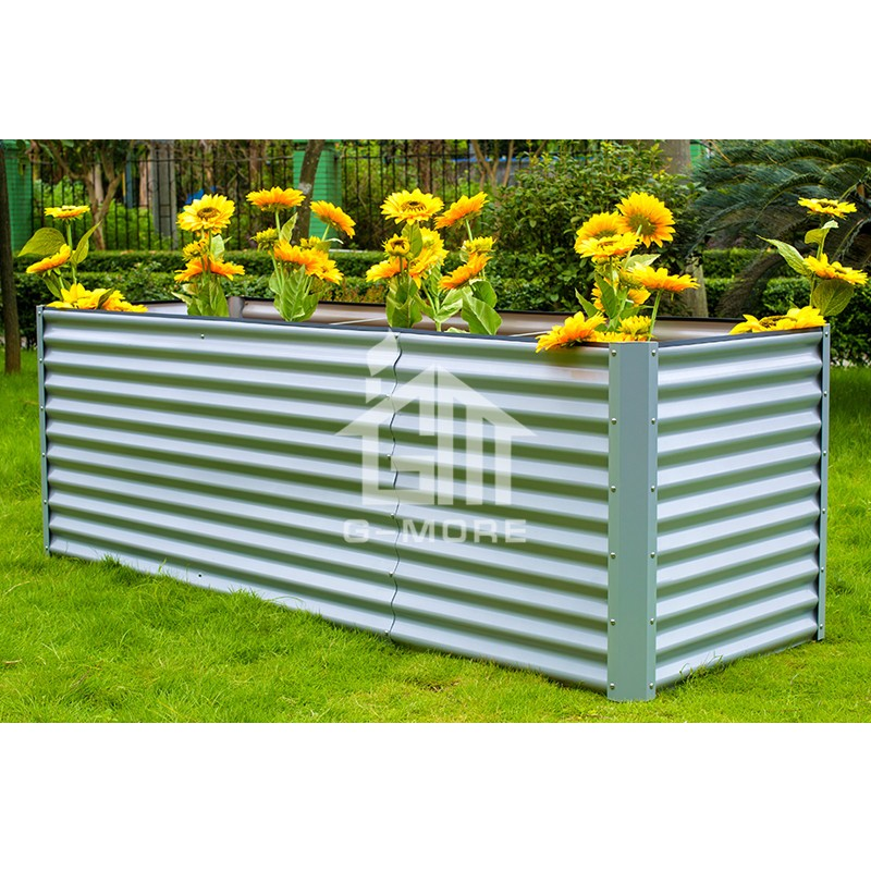 G MORE 90X180 CM Wholesale Sliver Rectangular Vegetable Gardening Metal  Raised Garden Beds