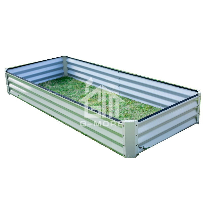 G MORE 60X180 CM Wholesale Rectangular Vegetable Gardening Metal  Raised Garden Beds